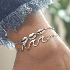 Jewelry - Boho wave and shell ankle bracelet
